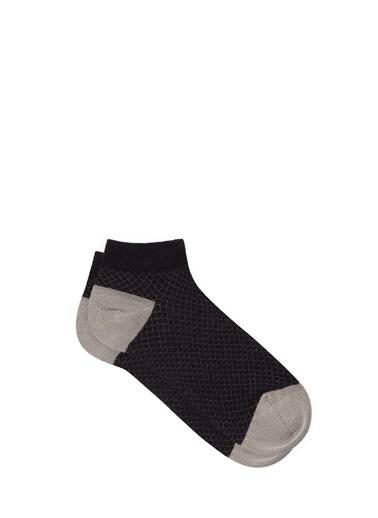 Mavi  Patik Çorap Siyah